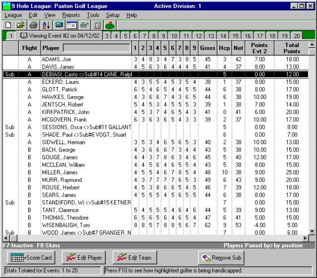 Golf League Desktop Software: Easy • Save time • Cut tedium