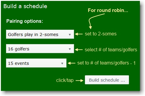 free round robin tournament schedule pairings generator